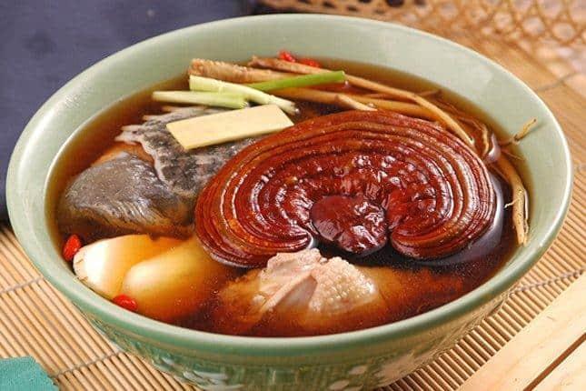 Nấu nấm linh chi thành món ăn